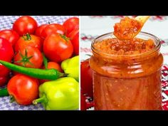 YouTube Salsa Picante, Conservation, Preserves, Pickles, Stuffed Peppers, Canning, Food, Tomato Sauce, Onions