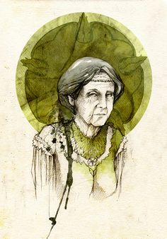 "Olenna Redwyne by elia-illustration on deviantART. ""The Queen of Thorns, she's called. Isn't that right?"" ""It is. You'd best not use that name in her presence, though, or you're like to get pricked."""