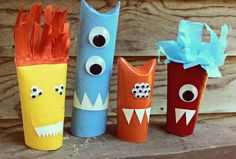TP roll monsters! Cute and easy!