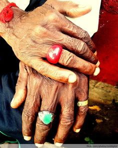 I've always loved old women's hands. They have such a story.