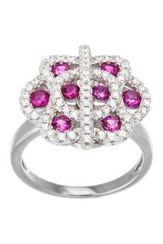 Sterling Silver CZ Flower Ring
