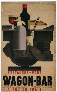 flat design art deco posters dubonet - Pesquisa Google