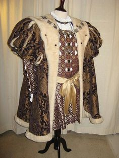 King Henry VIII Costume. As Henry grew older his health suffered, contributing to his weight increasing dramatically, no longer the energetic man of his youth.