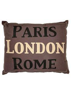 Paris/London/Rome pillow #home #decor #souvenir