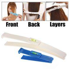 Diy Hair Design Hair Bangs Fringe Cut Comb Clip Home Salon Trimmer Tools