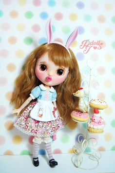 ** CUSTOM BLYTHE DOLL : ❤Bunny Bunny❤  Custom by : PJdolls Base model :Neo Blythe doll (FBL type).  Meet the cute pouty face girl! she has a sweet