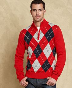 Tommy Hilfiger Sweater, Hardwick Argyle Sweater - Mens Sweaters - Macy's