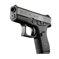 Glock 42 Handgun Single Stack 380 AP AUTO 6 Rounds Black New: http://www.targetsportsusa.com/p-4383-glock-42-gun-380-acp-auto-6-rounds-black-new-ui4250201.aspx?keyword=glock+42+handgun The G42 is the smallest Glock pistol ever introduced, making it ideal for pocket carry and other deep concealment carry methods. The slim design of the G42 fits the hands of any shooter; specifically it gives women or those with smaller hands a comfortable option like they've never seen before.