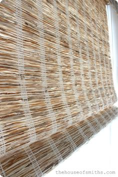 The House of Smiths - Woven Wood Roman shades for bay window