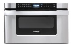 Kitchen Microwave Oven Sharp+Microwave+Drawer+Oven,+24+in.+1.2+cu.+ft.+1000W+Stainless+Steel