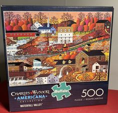 Puzzle Shop, Puzzle Board, Game Pieces, Puzzle Pieces, Buffalo Games, Colorful Artwork, How To Know, 500 Piece Jigsaw Puzzles, New England