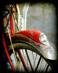 Isaac's Red Bike from his childhood. Mud Vein by Tarryn Fisher