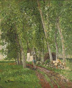 In the Woods at Moret, Camille Pissarro, 1902 Camille Pissarro Paintings, Pissaro Paintings, Gustave Courbet, Post Impressionism, Paul Gauguin, Wedding Art, Art Challenge, Renoir, Claude Monet