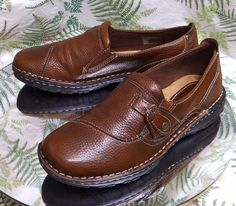 EARTH ORIGINS BROWN LOAFERS SLIP ONS SCHOOL WORK DRESS SHOES US WOMENS SZ 9 M #Earth #LoafersMoccasins #Casual