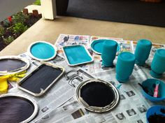 the tins and jars i painted for my special day