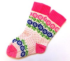 Vintage wool socks with Flowers patterns. Gift for Moms Day. Hand made wool sock… Vintage wool socks with Flowers patterns. Gift for Moms Day. Hand made wool socks . Knitting Socks, Knit Socks, Warm Socks, Mom Day, Vintage Wool, Mittens, Gifts For Mom, Flowers, Pattern
