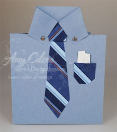 Father's Day Mens Shirt Card | Ustamp4fun.com - Amy Celona, Stampin' Up! Demonstrator
