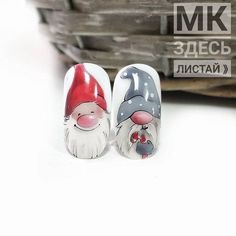 So Cute Christmas Winter Nail Art Painting Design Nail Art Noel, Holiday Nail Art, Xmas Nails, Winter Nail Art, Christmas Nail Art, Winter Nails, Cute Nail Art Designs, Winter Nail Designs, Christmas Nail Designs
