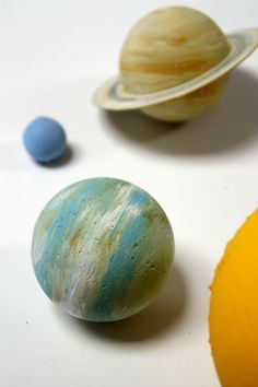 Beautiful DIY wooden painted solar system!