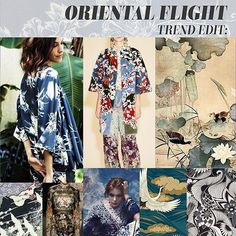 Trend Edit: Oriental Flight A/W 2016/17 ORIENTAL MOTIFS / INDIGO STENCILLED / BAMBOO LEAVES & SHOOTS / ORIENTAL BIRDS #prints #pattern #trends #patternbank
