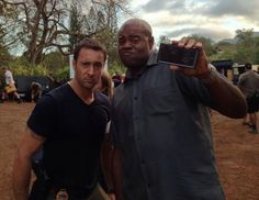 Alex and Chi BTS pic from Lon Takiguchi on Twitter - Hawaii Five-0