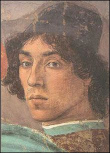 Filippino Lippi - Autoritratto.  (Particolare - Cappella Brancacci, Firenze)