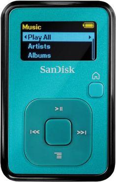 SanDisk Sansa Clip  4GB MP3 Player with Radio – Teal