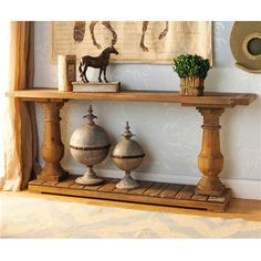 Wood Turned Baluster Console Table