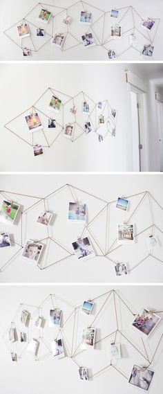 DIY un accroche photo géométrique