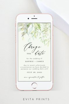 Change the Date Wedding Change the Date Announcement Wedding Wedding News, Wedding Videos, Our Wedding, Bachelorette Party Invitations, Bridal Shower Invitations, Electronic Save The Date, Wedding Templates, Digital Invitations, Announcement