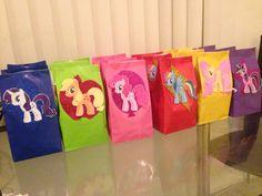 My little pony favor bags