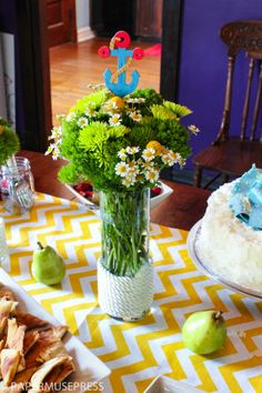 Nautical baby shower flowers - Baby Shower Ideas