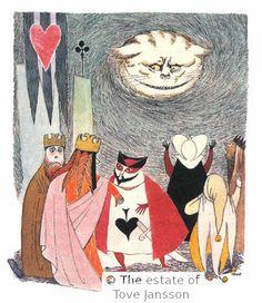 Ilustração de Tove Jansson para Alice no país das maravilhas