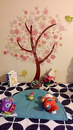 My daughter Sandamali's play area for tummy time and to read stories.