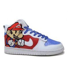 best service ebc4a 27f13 Custom High Tops Super Mario Nike Dunk Men Women Shoes Discount Running  Shoes, Discount Shoes