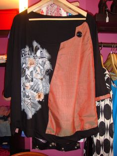 Refashioned viscose jumper top from size L to XXL......