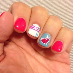 #pink #patchwork #nailart