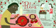 Cositas Ricas Ilustradas por Pati Aguilera: Pebre Illustration Sketches, Food Illustrations, Chilean Recipes, Chilean Food, Spanish Expressions, International Recipes, Stevia, South America, Food And Drink