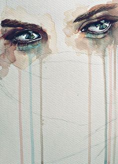 Illustration Sad It's okay to cry. If you hold it in and pretend to be fine, the hurt will come out (explode) later when you least expect it! Illustration Sad Source : It's okay Inspiration Art, Art Inspo, Art Amour, Watercolor Eyes, Tattoo Watercolor, Watercolor Paintings, Art Africain, Wow Art, Oeuvre D'art