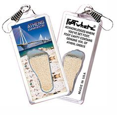 Athens, Greece FootWhere® Souvenir Zipper-Pull. Made in USA