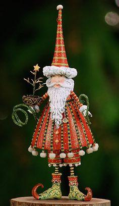 "Patience Brewster 6"" Santa ornament <3"