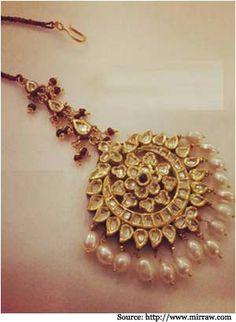 Golden Maang Tikka Designs- Bridal Jewellery, Bridal Maang Tikka