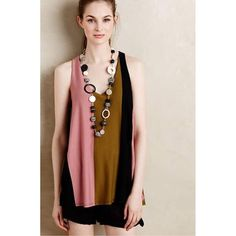 HP Puella Anthro Sz S Pink Rose Tunic Top NWT  Puella  Anthropologie Size Small Sleeveless   Stripe  Flair Tunic  Length 28  Bust 34-38 New With Tags! Anthropologie Tops Tunics