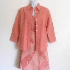 Ladies 3 pc Rose color Tommy Bahama Outfit Lined Skirt/Spaghetti Top/Over Blouse SZ 6 @eBay SALE $15.50