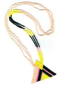 Handbeaded pyramid necklace
