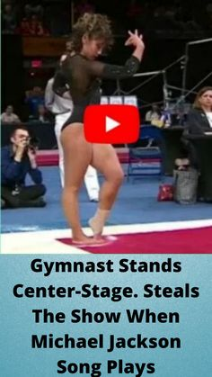 #Gymnast Stands Center-Stage. #Steals The Show When #Michael #Jackson Song #Plays