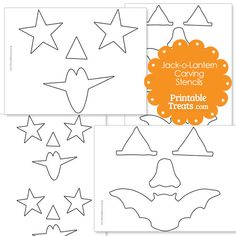 Free Printable Jack o Lantern Carving Stencils from PrintableTreats.com