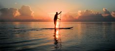 Gliding across Biscayne Bay at sunrise on my paddleboard.