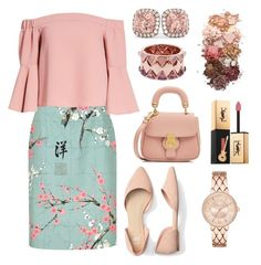 """""""Sweet rose flower"""" by teremllfashion19 on Polyvore featuring Topshop, Burberry, Allurez, Sigma, Yves Saint Laurent and Tory Burch"""