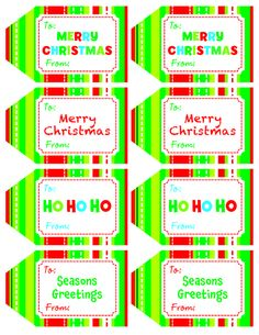 Looking for free printable holiday labels? Check these out just for you! Printable Tags, Free Printables, Christmas Tag, Christmas Ideas, Xmas, Gift Wrapping Bows, Creative Teaching Press, Crafty Kids, Free Activities